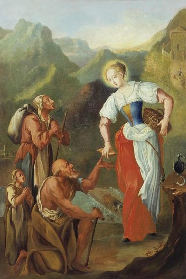St. Notburga, Distributing Alms to the Poor-Johann Georg Hoettinger-Giclee Print
