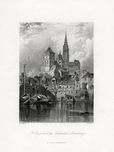 St Omer and the Cathedral, Strasbourg, France, 19th Century-W Richardson-Giclee Print