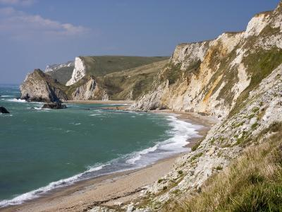 St. Oswald's Bay Beach and Cliffs, Dorset, England, United Kingdom, Europe-Rainford Roy-Photographic Print