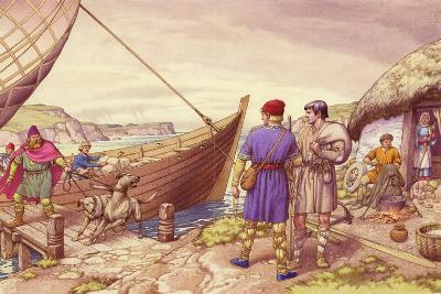 St Patrick of Ireland-Pat Nicolle-Giclee Print
