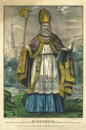 St Patrick, Pub. Currier and Ives, C.1860