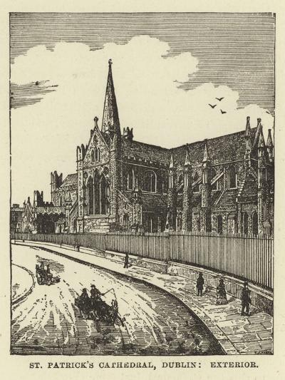 St Patrick's Cathedral, Dublin, Exterior--Giclee Print