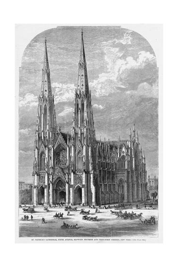St. Patrick's Cathedral, Fifth Avenue, between Fiftieth and Fifty-First Streets, New York.--Giclee Print