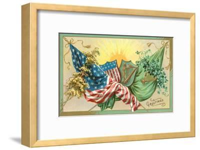 St. Patrick's Day, U.S. and Irish Flags