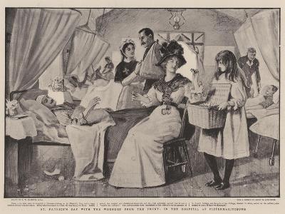 St Patrick's Day with the Wounded from the Front, in the Hospital at Pietermaritzburg-Robert Walker Macbeth-Giclee Print