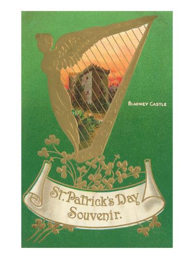 St. Patricks Day, Harp and Blarney Castle--Art Print