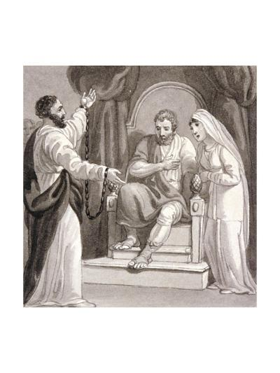 St Paul before the Governor of Caesarea, Felix, and His Wife, Drusilla, C1810-1844-Henry Corbould-Giclee Print