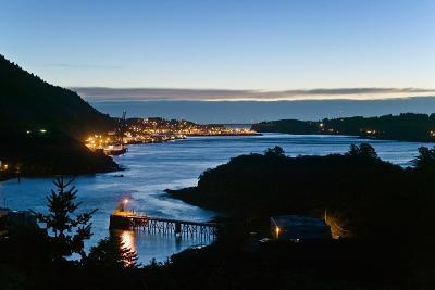 St.Paul Boat Harbor in Morning Twilight Kodiak Alaska Southwest Autumn-Design Pics Inc-Photographic Print