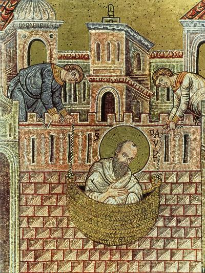 St. Paul Escapes Damascus in a Basket, 12th-13th Century--Giclee Print