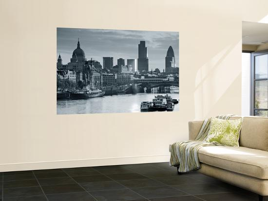 St. Paul's and City of London, London, England-Doug Pearson-Giant Art Print