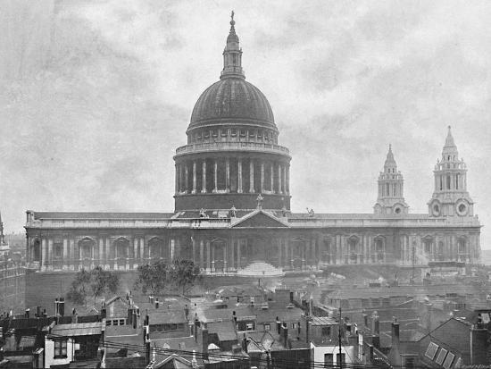 'St. Paul's Cathedral', c1896-Unknown-Photographic Print