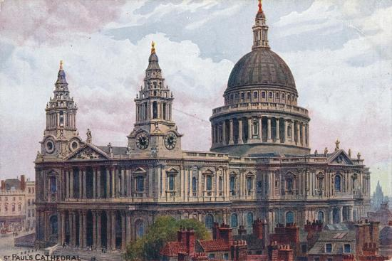 'St. Paul's Cathedral', c1910-Unknown-Giclee Print