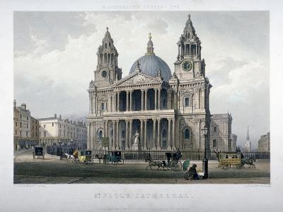 St Paul's Cathedral, City of London, 1851-Thomas Picken-Giclee Print
