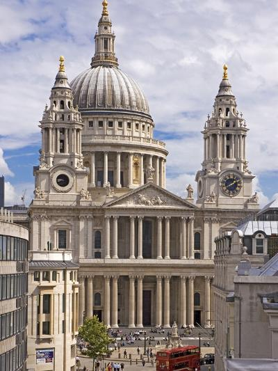 St. Paul's Cathedral Designed by Sir Christopher Wren, London, England, United Kingdom, Europe-Walter Rawlings-Photographic Print