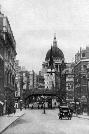St Paul's Cathedral from Fleet Street on a Sunday, London, C1930S