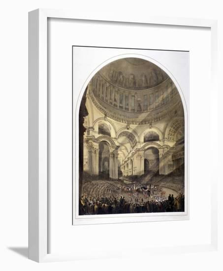 St Paul's Cathedral Interior, London, C1852-Andrew Maclure-Framed Giclee Print