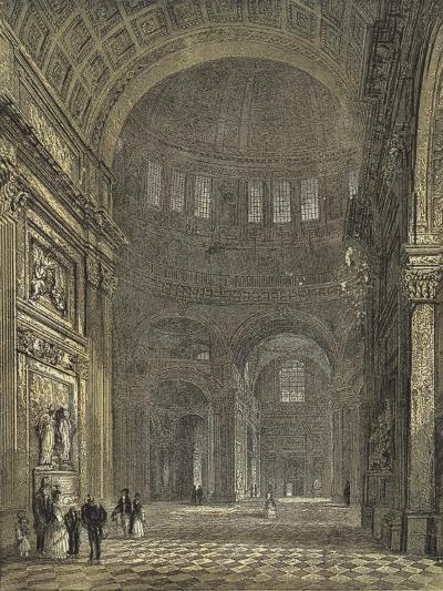 St Paul's Cathedral, Interior of the Dome, Looking Towards the Northern Transept--Giclee Print