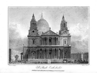 St Paul's Cathedral, London, 1804- Reeve-Giclee Print