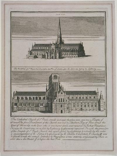 St Paul's Cathedral, London, C1650-80--Giclee Print