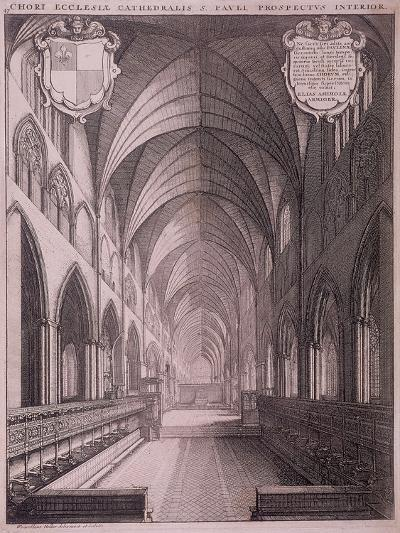 St Paul's Cathedral, London, C1658-Wenceslaus Hollar-Giclee Print