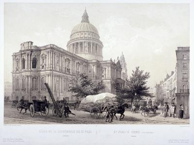 St Paul's Cathedral, London, C1855-Jules Louis Arnout-Giclee Print