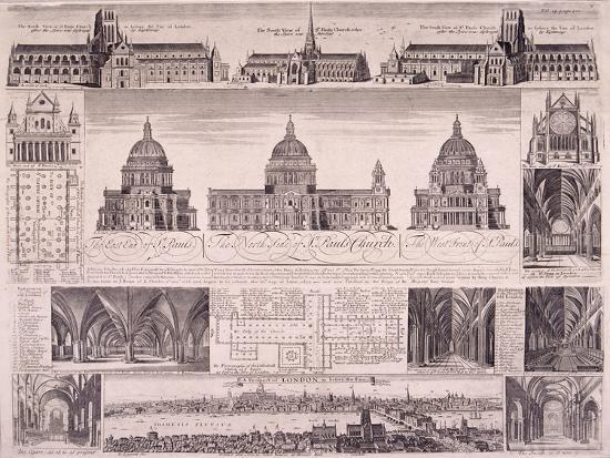 St Paul's Cathedral, London-David Loggan-Giclee Print