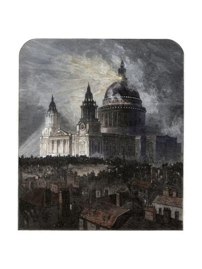 St Paul's Cathedral on Thanksgiving Day, 1872--Giclee Print