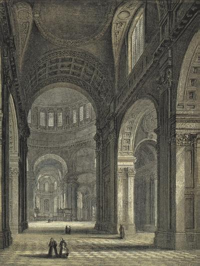 St Paul's Cathedral, the Nave and Choir--Giclee Print