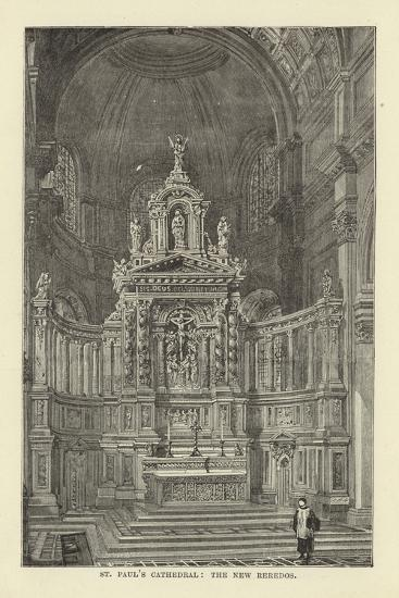 St Paul's Cathedral, the New Reredos--Giclee Print