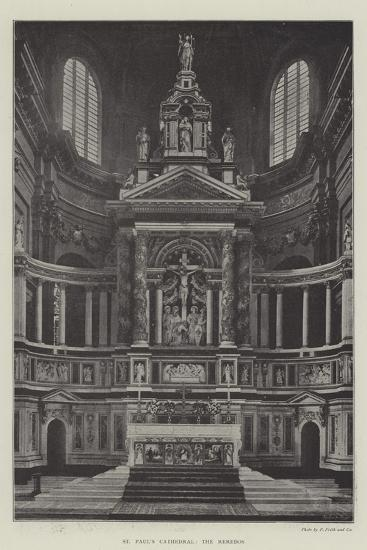 St Paul's Cathedral, the Reredos--Giclee Print
