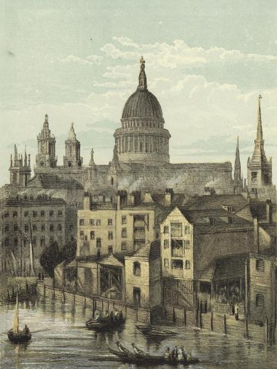 St Paul's Cathedral, View of the Southern Front from Southwark Bridge--Giclee Print