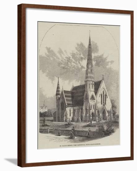 St Paul's Church, West Smethwick, South Staffordshire--Framed Giclee Print