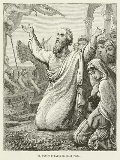 St Paul's Departure from Tyre--Giclee Print