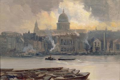 St.Paul's from the River-George Hyde Pownall-Giclee Print