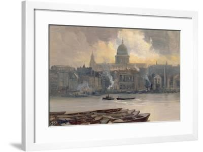 St.Paul's from the River-George Hyde Pownall-Framed Giclee Print
