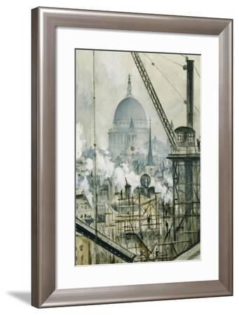 St. Paul's from the Telegraph Building, Fleet Street-Christopher Richard Wynne Nevinson-Framed Giclee Print