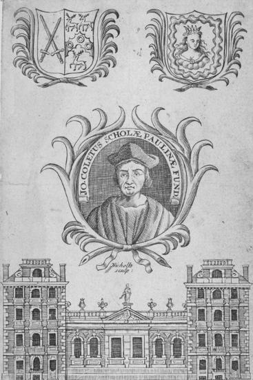 St Paul's School, City of London, 1750-Sutton Nicholls-Giclee Print