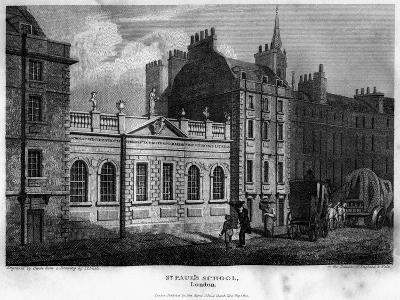 St Paul's School, City of London, 1814- Owen-Giclee Print