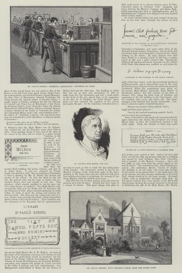 St Paul's School--Giclee Print
