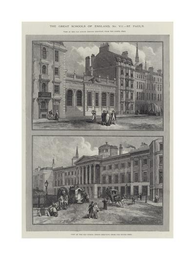 St Paul's School--Giclee Print