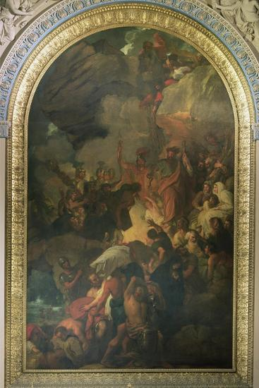 St. Paul Saved from a Shipwreck Off Malta, Altarpiece of the Chapel of St. Peter and St. Paul in…-Benjamin West-Giclee Print