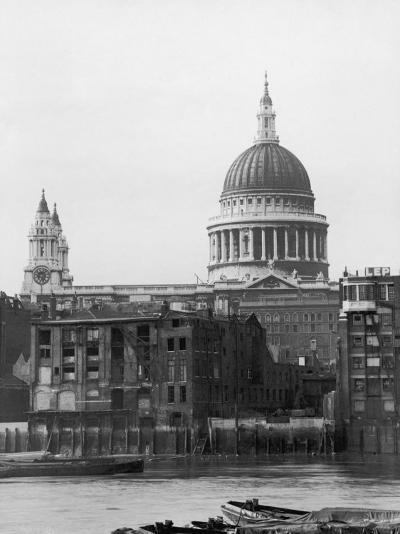 St. Pauls Across Thames--Photographic Print