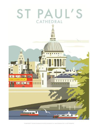 St Pauls Cathedral - Dave Thompson Contemporary Travel Print-Dave Thompson-Art Print