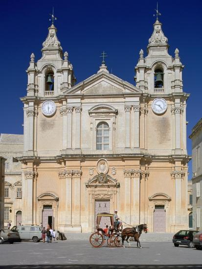 St Pauls Cathedral, Mdina, Malta-Peter Thompson-Photographic Print