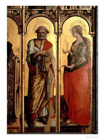 St. Peter and St. Mary Magdalene, Detail from the Santa Lucia Triptych-Carlo Crivelli-Giclee Print