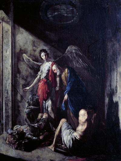 St Peter Being Freed by the Angel-Johann Heinrich Schonfeld-Giclee Print