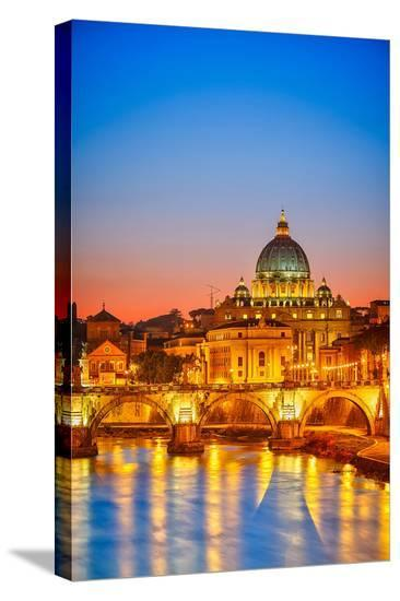 St. Peter Cathedral Rome Italy--Stretched Canvas Print