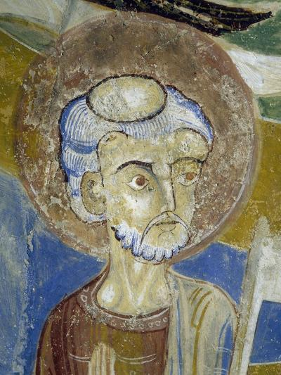 St. Peter, Detail of Christ of Majesty, Fresco, Crypt Apse of Monte Maria Abbey, Near Mals--Giclee Print