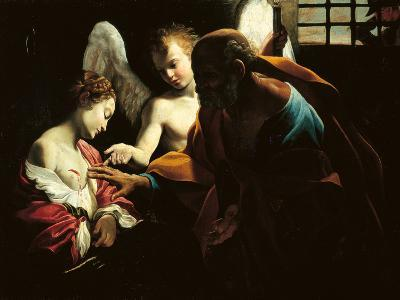 St Peter Healing St Agatha-Giovanni Lanfranco-Giclee Print