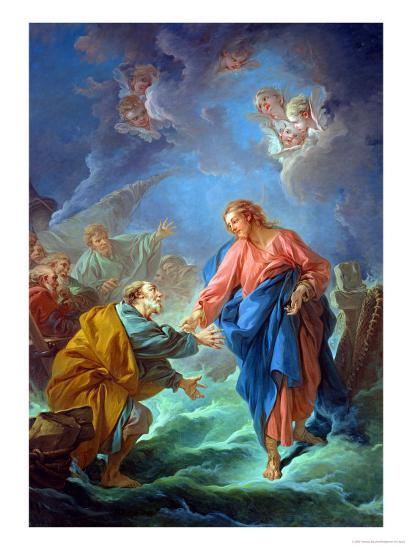 St. Peter Invited to Walk on the Water, 1766-Francois Boucher-Giclee Print